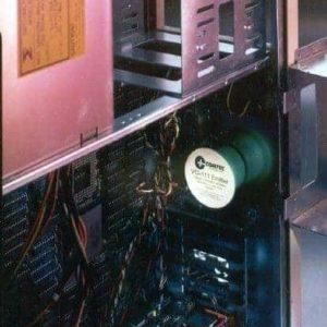 111 emitter inside a computer tower