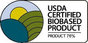 USDA Certified BioBased Product 76%