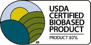 USDA Certified Biobased Product 93%